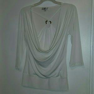 Ally B Winter white blouse